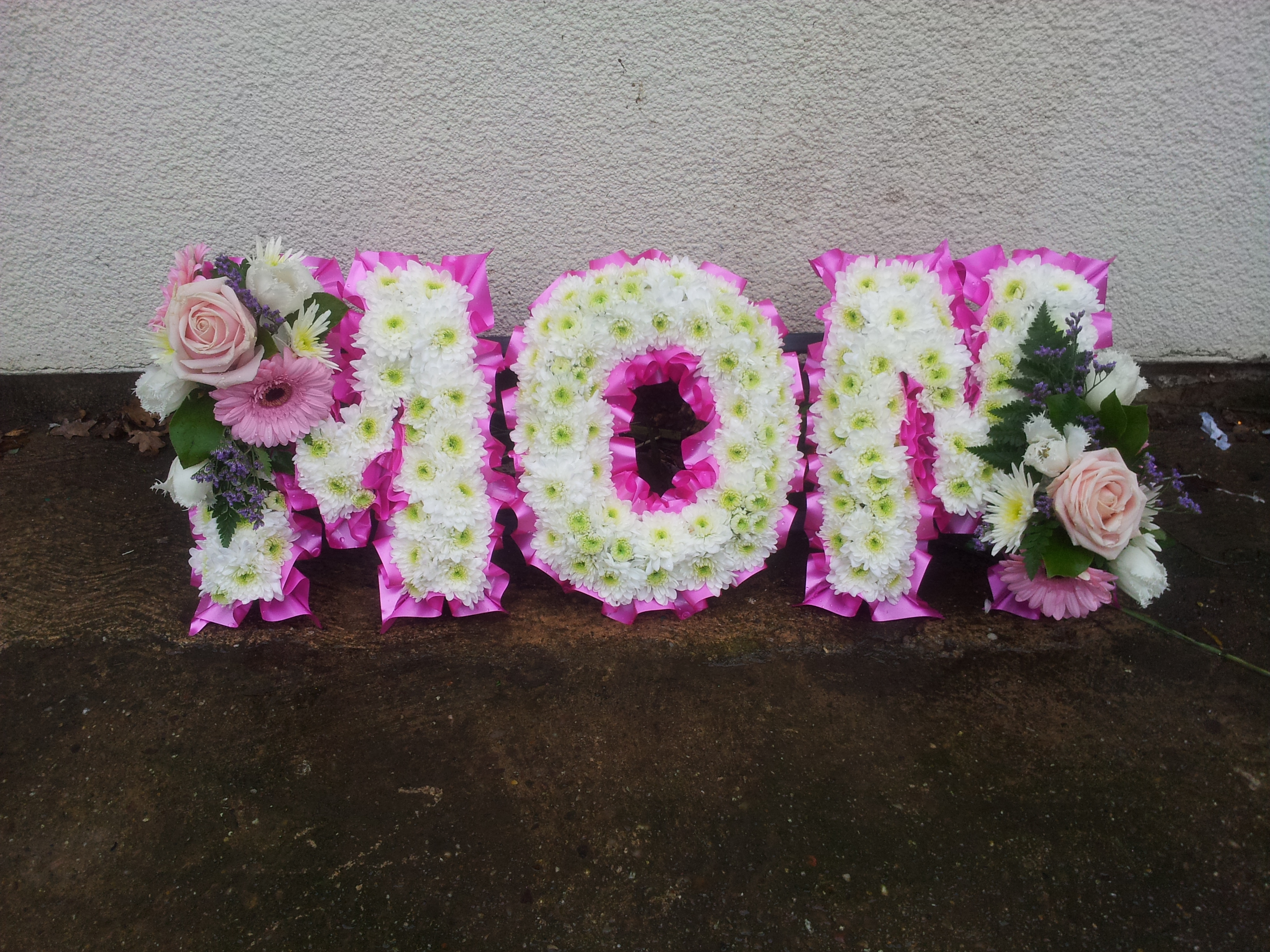 Letters and numbers cz handsaker floral designs czh funeral letters numbers 005g izmirmasajfo